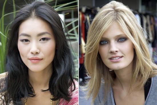 Liu Wen & Constance Jablonski, The New Faces of Estee Lauder