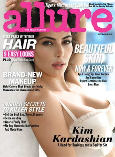 Allure Magazine September 2010 Issue | Kim Kardashian