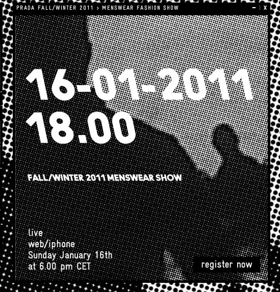 PRADA FALL 2011 MENSWEAR LIVE