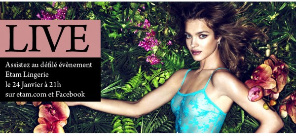 Natalia Vodianova Etam Fashion Shows Event Banner
