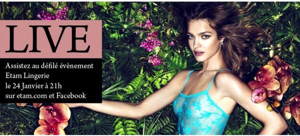 Natalia Vodianova Etam Fashion Shows Event Banner