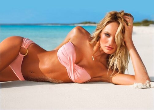 67deca56a1e Go behind the scenes with supermodels Adriana Lima and Candice Swanepoel on  the Victoria s Secret Swim 2012 Catalog shoot in Turks   Caicos to ...