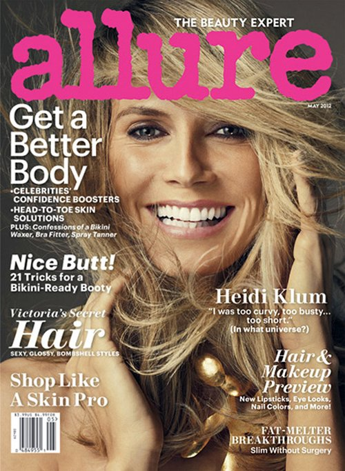 Heidi Klum on the Cover of Allure May 2012 Issue