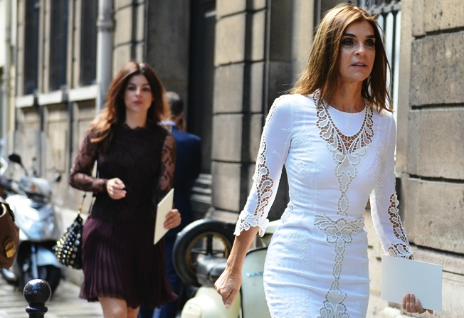 Carine Roitfeld by Tommy Ton