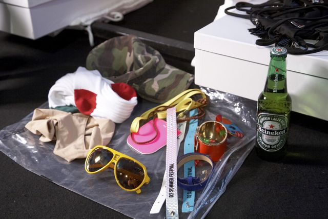 Accessory backstage at DSquared2 Spring Summer 2012 Fashion Show in Milan