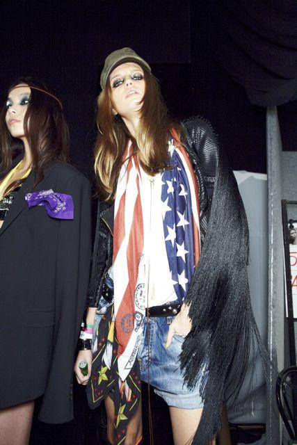 Bette Franke backstage DSquared2 Spring Summer 2012 Collection Milan Fashion Week