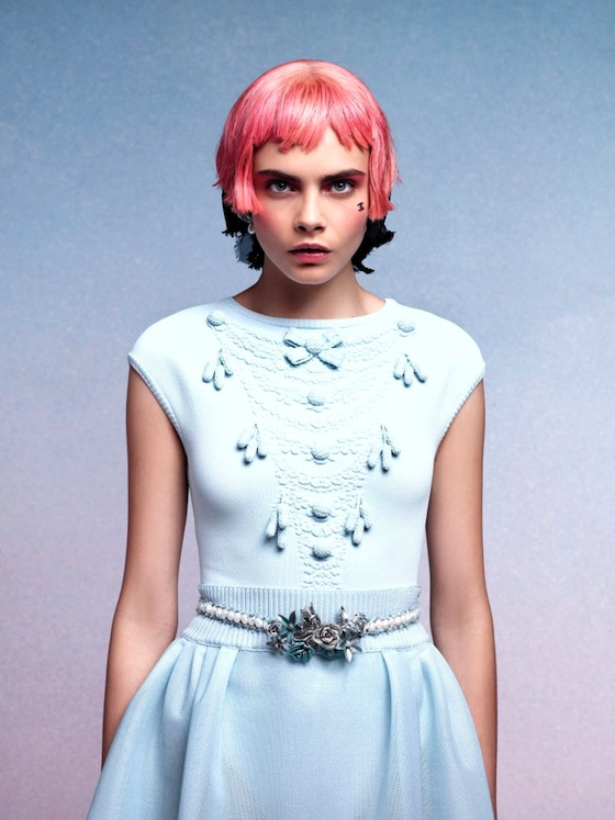 Cara Delevinge in the Chanel Cruise 2013 Press kit