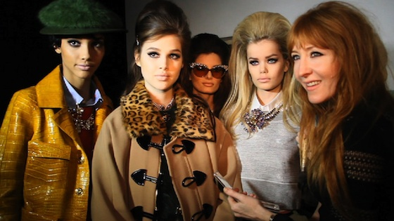 Charlotte Tilbury backstage DSquared2 Fall 2012