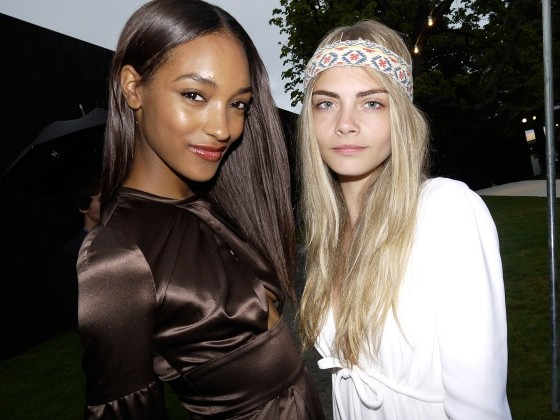 Jourdan Dunn and Cara Delevingne, Burberry Serpantine Party