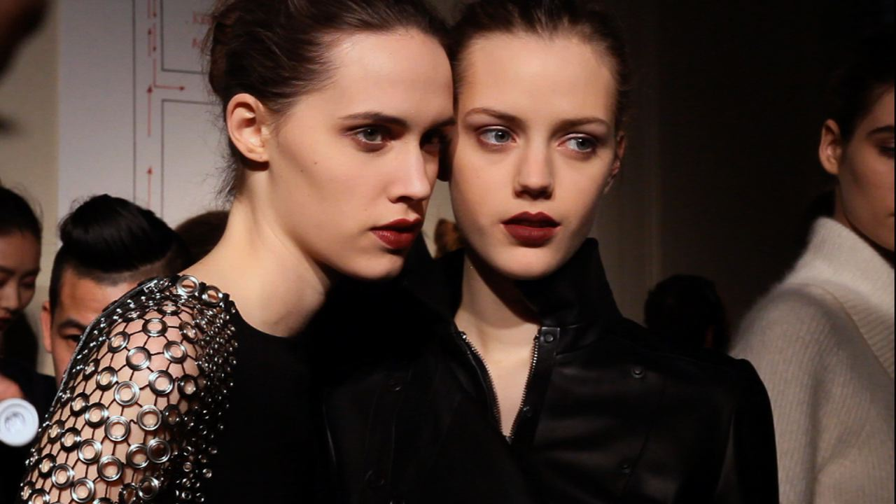 Anthony Vaccarello Fall 2013 Backstage