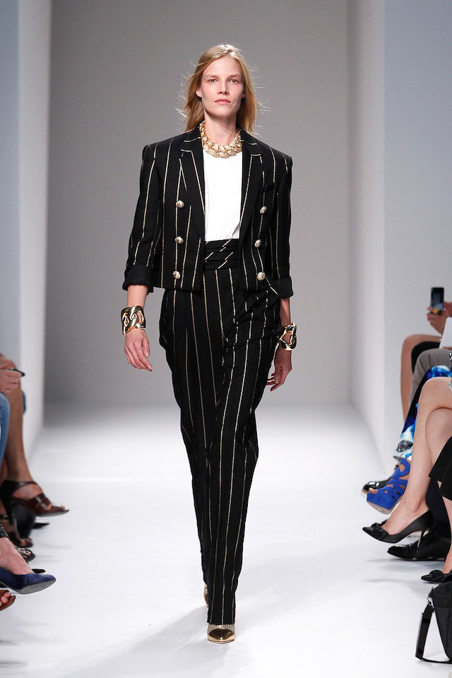 Suvi Koponen walks the Balmain Spring 2014 fashion show
