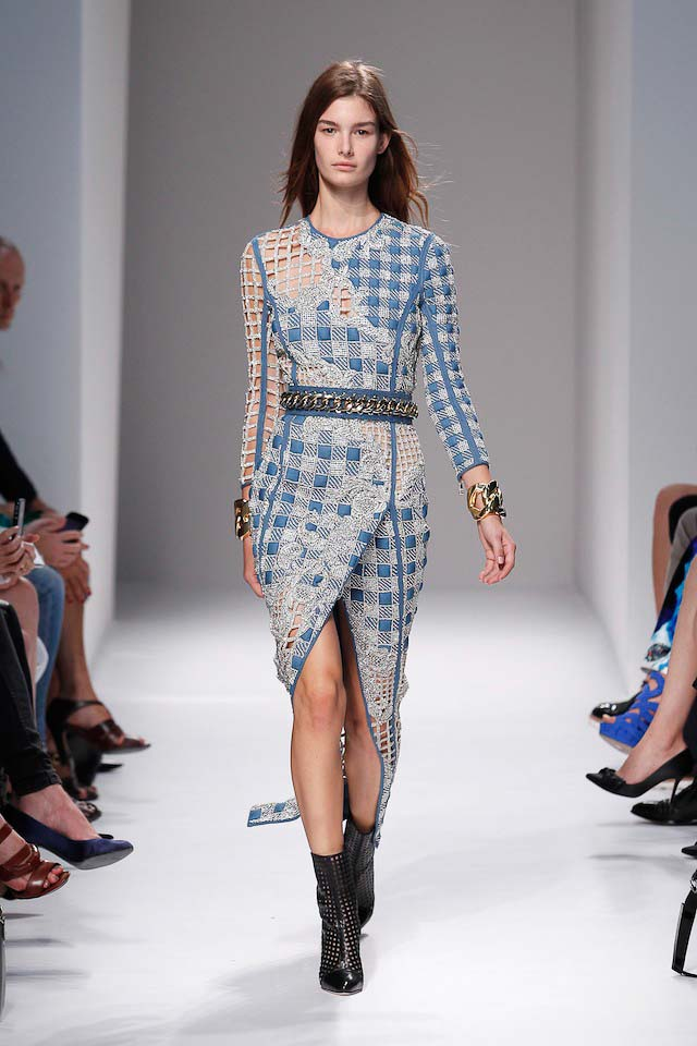 Ophelie Gullermand walks the Balmain Spring 2014 fashion show