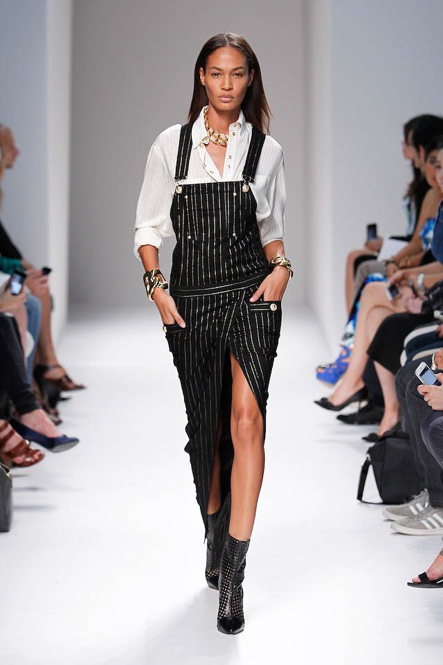 Joan Smalls walks the Balmain Spring 2014 fashion show