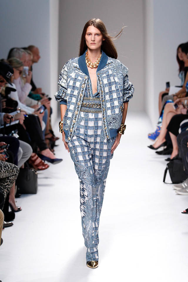Maria Piovesan walks the Balmain Spring 2014 fashion show