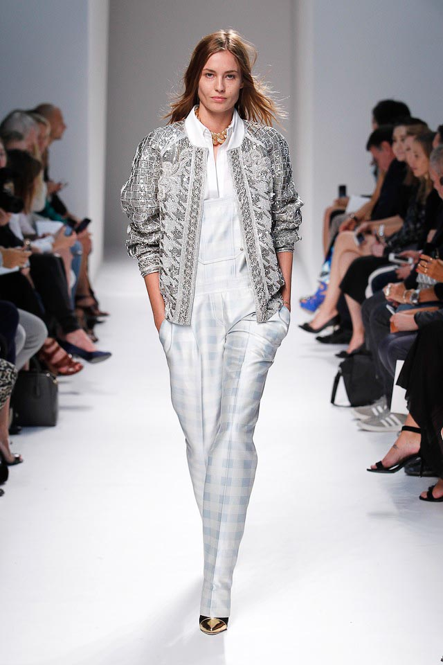 Nadja Bender walks the Balmain Spring 2014 fashion show