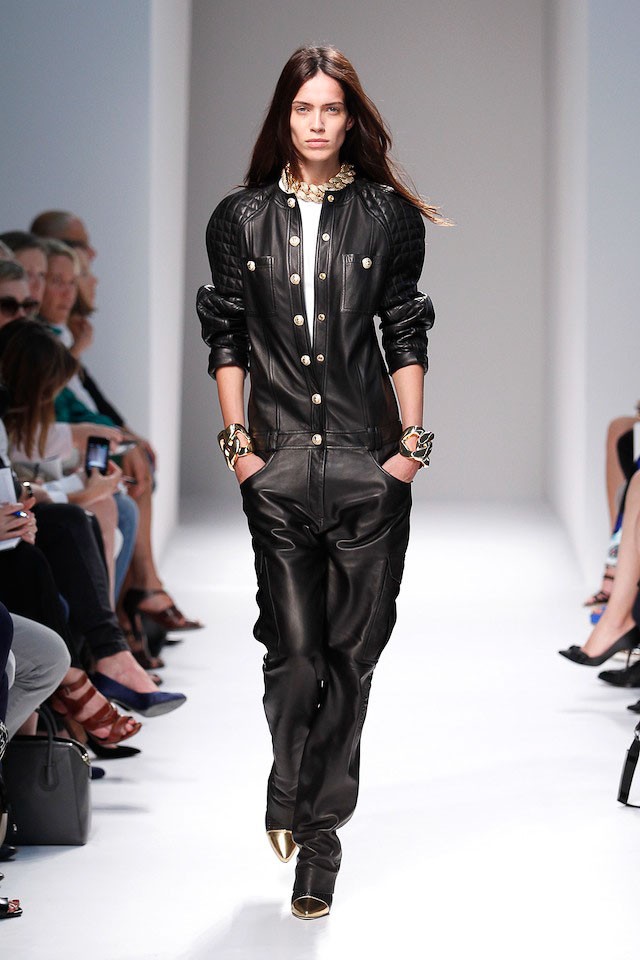 Amanda Wellsh walks the Balmain Spring 2014 fashion show