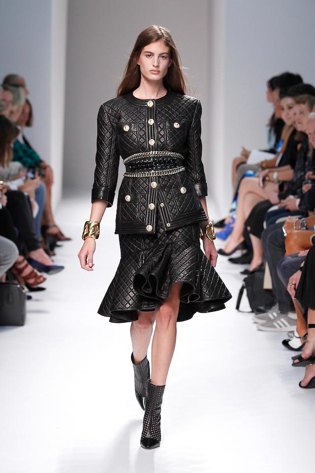 Elodia Prieto walks the Balmain Spring 2014 fashion show