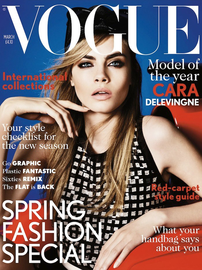 Cara Delevingne, British Vogue by Mario Testino