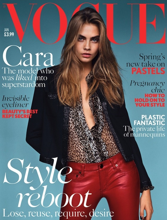 Cara Delevingne, British Vogue January 2014