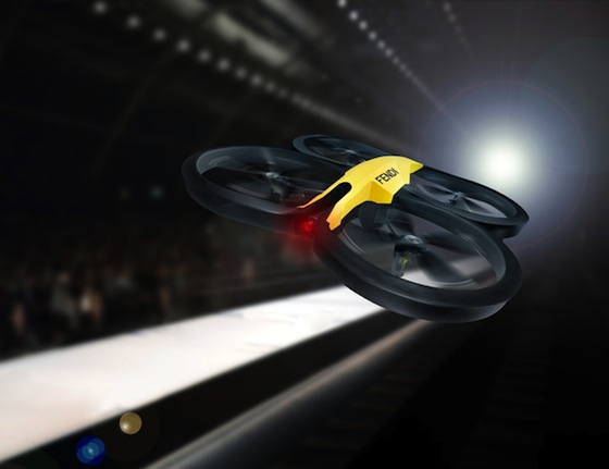 Fendi Livestream with Drones