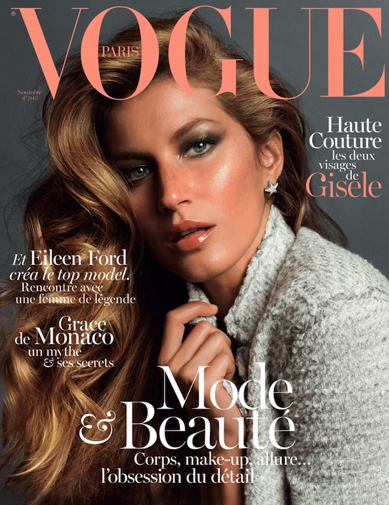 Gisele Bundchen Covers Vogue Paris November 2013
