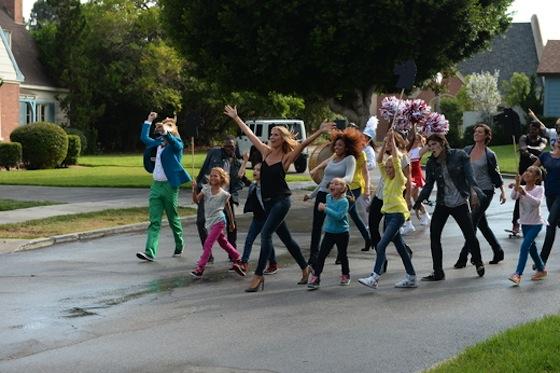 Heidi Klum sings and dances in Jordache Campaign