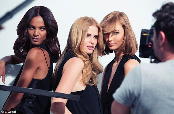 Karlie Kloss Shoots Campaign for L'Oreal Paris