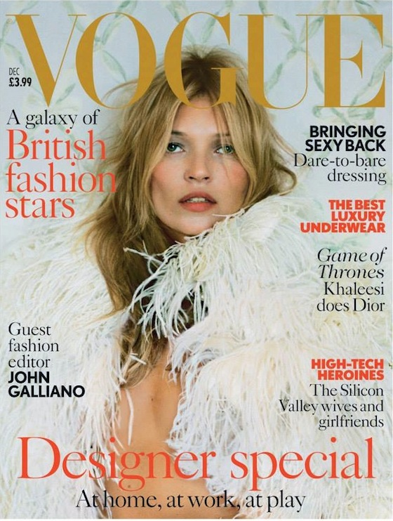 Kate Moss Covers British Vogue December 2013