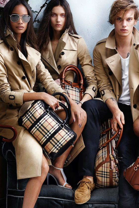 Model Malaika Firth appears in the Burberry Spring 2014 Campaign