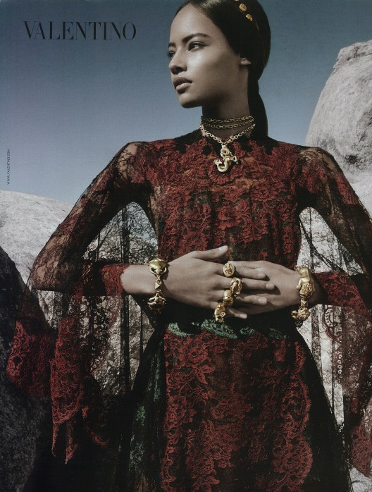 Malaika-Firth-Valentino-Spring 2014 Campaign