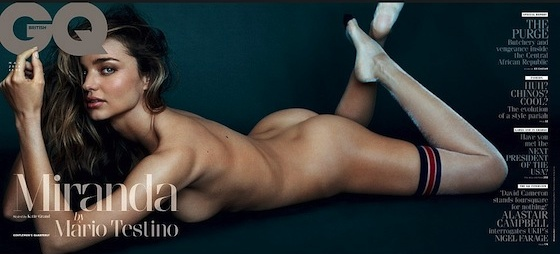 Miranda Kerr covers British GQ, photographed by MarioTestino