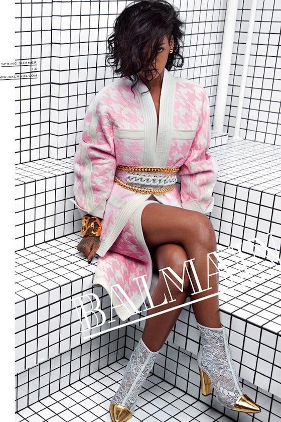 Rihanna for Balmain Spring 2014